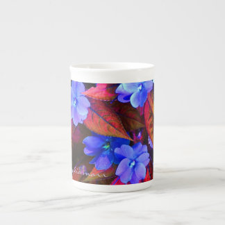 Bone china mug in vivid unreal colors