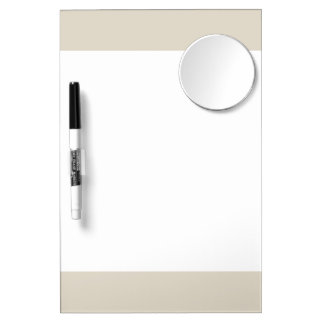 Bone Classic Colored Dry Erase Board With Mirror