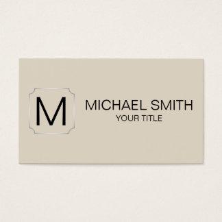 Bone Color Background Business Card