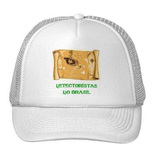 Boné detectoristas do Brasil map Gorra
