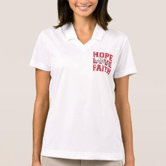 Bone Disease Hope Love Faith Survivor Polo Shirt
