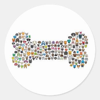 BONE Dog Cartoon Classic Round Sticker