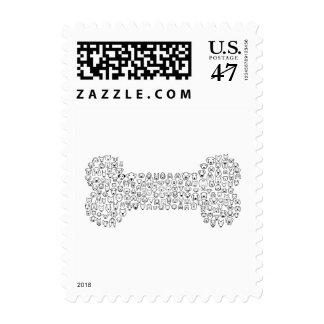 BONE Dog Cartoon Postage Stamp