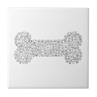 BONE Dog Cartoon Small Square Tile