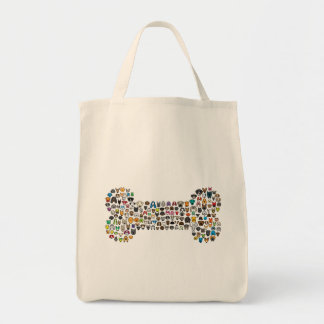 BONE Dog Cartoon Tote Bag