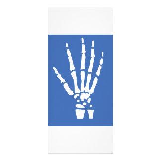 Bone Finger hand Rack Card Template