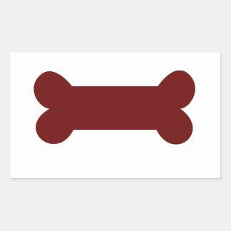 bone for dog rectangular sticker