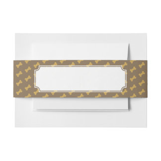 bone for dog texture invitation belly band