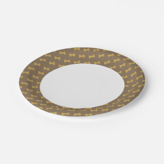 bone for dog texture paper plate