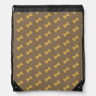 bone for dog texture drawstring bags