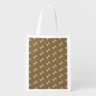 bone for dog texture reusable grocery bags