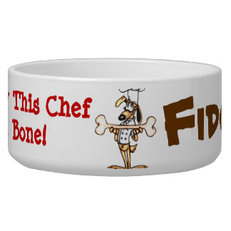 Bone For The Chef Customized Dog Bowls