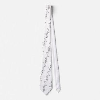 Bone - fun line drawing art symbol logo design neck tie