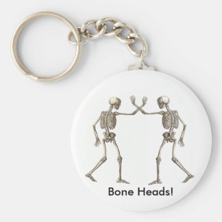 Bone Heads Skeletons Keychain