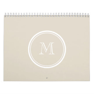 Bone High End Colored Monogram Calendar