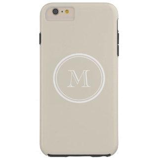 Bone High End Colored Monogram Tough iPhone 6 Plus Case