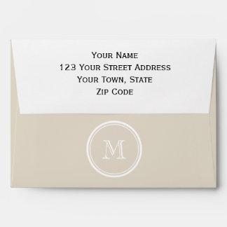 Bone High End Colored Monogram Envelopes