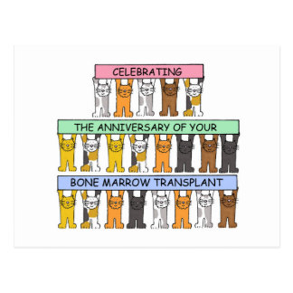 Bone marrow transplant Anniversary. Postcard