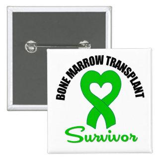 Bone Marrow Transplant Survivor Heart Ribbon Pins
