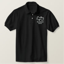 Bone-n-Paws Greyhound Lover Embroidered Polo Shirt