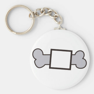 Bone Name Drop Basic Round Button Keychain