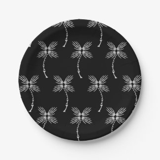 Bone Palm Trees Paper Plate