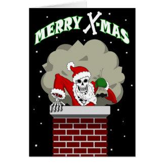 Bone Santa greeting card