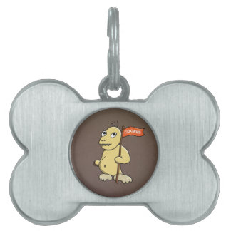 Bone Shaped Cookies Flag Funny Cookie Monster Pet ID Tag