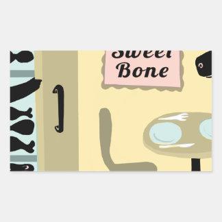 Bone Sweet Bone Rectangular Sticker