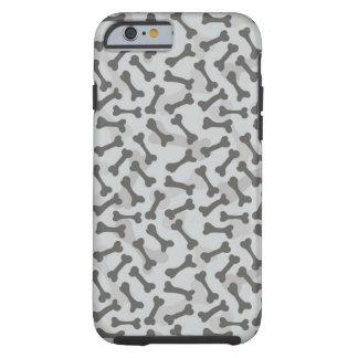 Bone Texture Pattern Greyscale Tough iPhone 6 Case