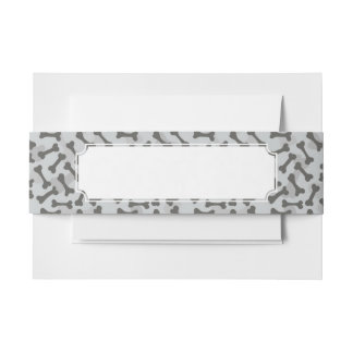Bone Texture Pattern Greyscale Invitation Belly Band