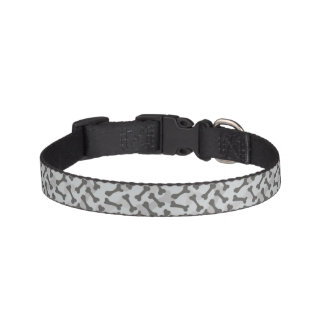 Bone Texture Pattern Greyscale Pet Collar