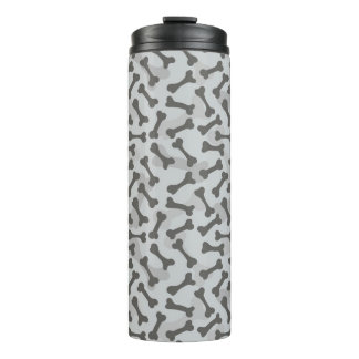 Bone Texture Pattern Greyscale Thermal Tumbler