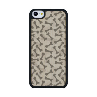 Bone Texture Pattern Greyscale Carved® Maple iPhone 5C Slim Case