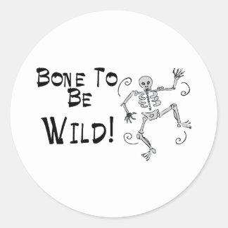 Bone To Be Wild (black) Classic Round Sticker