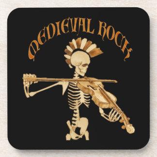 Bone violonist/Skeleton Fiddler - Medieval skirt Drink Coaster
