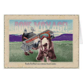 Bone Voyage!: Basset travel greetings Card