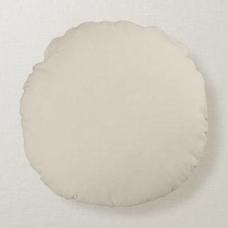 bone white round pillow