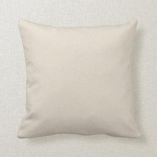 Bone White Throw Pillow