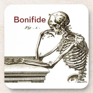 Bonefide Skeleton Beverage Coaster