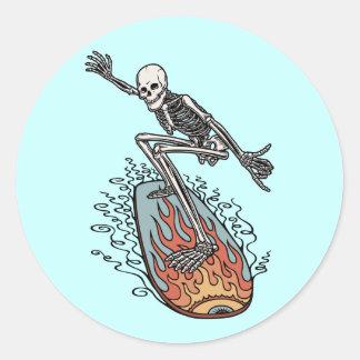 Bonehead Board Dude Classic Round Sticker
