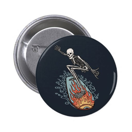Bonehead Board Dude Pinback Button