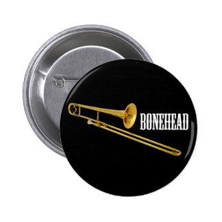 Bonehead Pinback Button