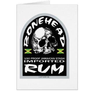 Bonehead Rum Card