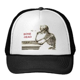 BONEHEAD The Contemplating Skeleton Trucker Hat