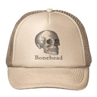 Bonehead Vintage Skull Print Hat