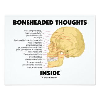 Boneheaded Thoughts Inside (Anatomy Humor) Card