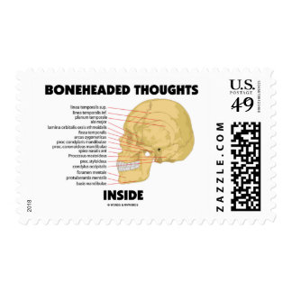 Boneheaded Thoughts Inside (Anatomy Humor) Postage Stamps