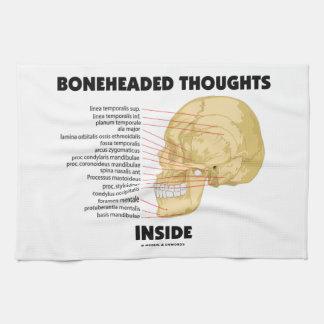 Boneheaded Thoughts Inside Hand Towel