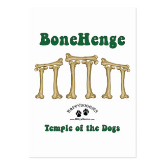 Bonehenge Temple of the Dogs Business Card Templates
